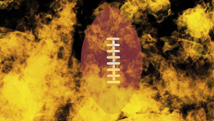 Football on fire loop - HD stock video clip