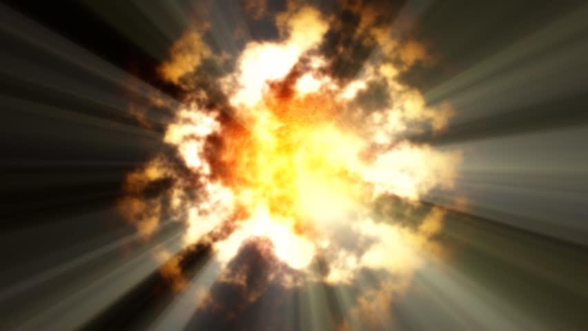 sun & rays - HD stock footage clip