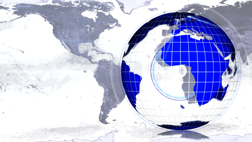 blue globe and map for news LOOP - HD stock video clip