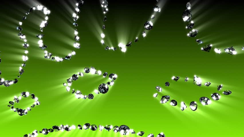 Diamond Crown - Diamond (HD) Glowing crown with looping diamonds. - HD stock video clip