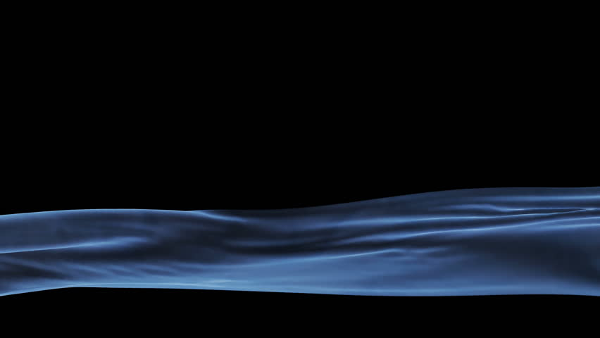 Blue Velvet Cloth Waving Lower Third, seamless loop, Alpha