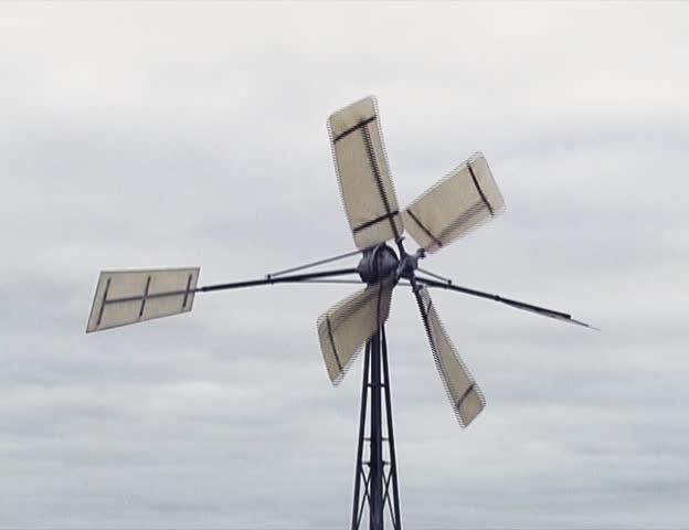 small wind-turbine - SD stock video clip