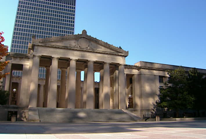 NASHVILLE - Circa 2002: Facade of the War Memorial Auditorium in Nashville Tennessee in 2002. - SD stock video clip
