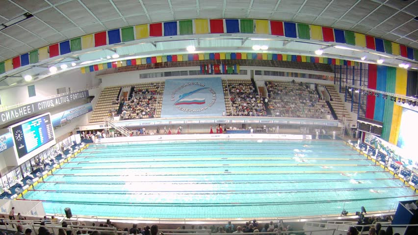 Olympic size swimming pool with lanes stock footage video 1620253 shutterstock - Olympic swimming pool lanes ...
