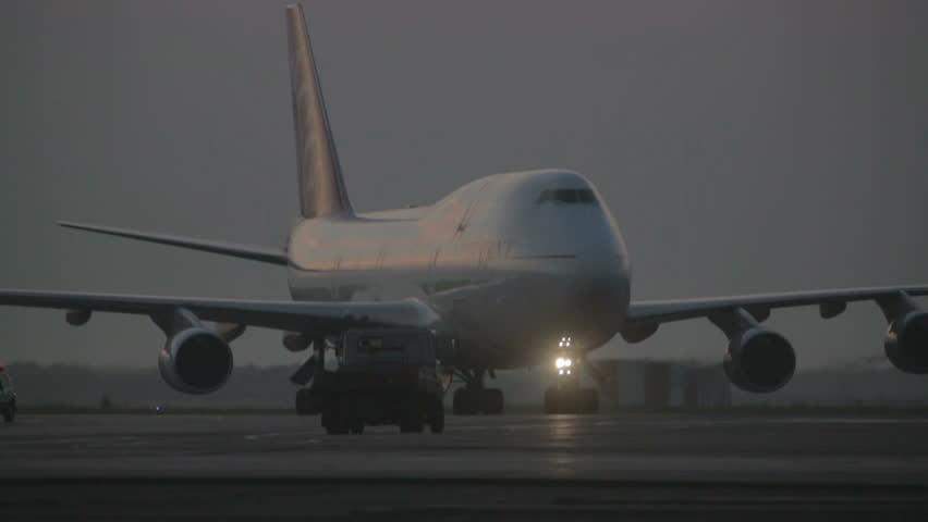towing cargo plane