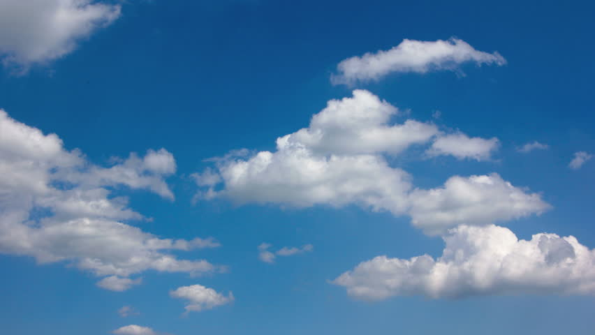 Timelapse - white clouds on a blue sky