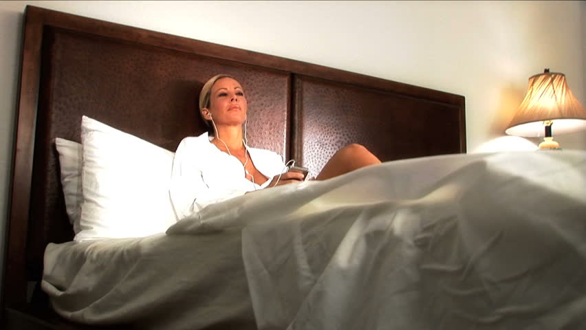 Beautiful blonde girl enjoys the luxury lifestyle - HD stock video clip