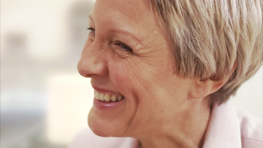 A smiling middle aged woman - HD stock video clip
