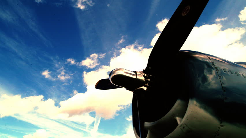 Propellor of old style airplane