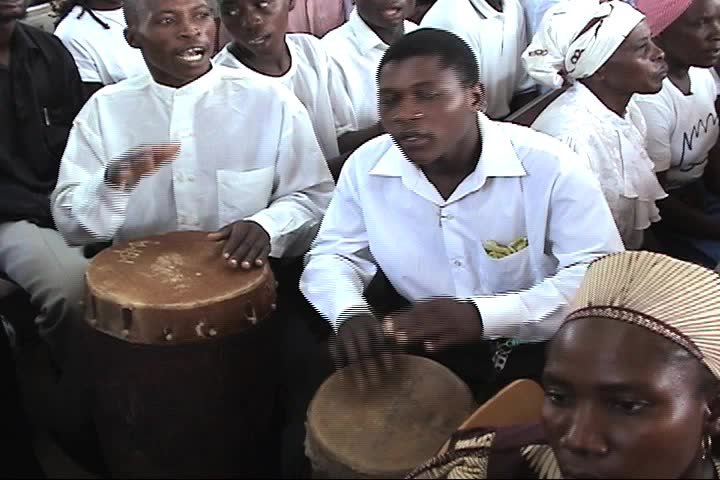 Drums in Worship - SD stock video clip