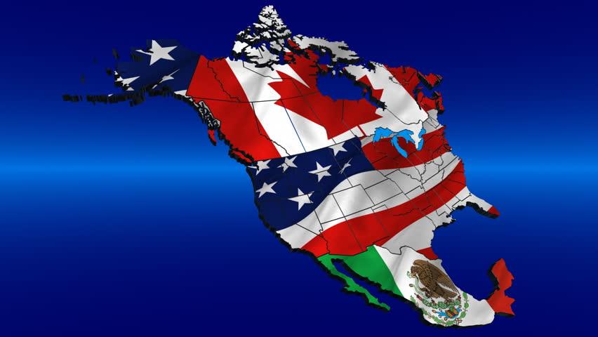 North America Continents USA Canada And Mexico