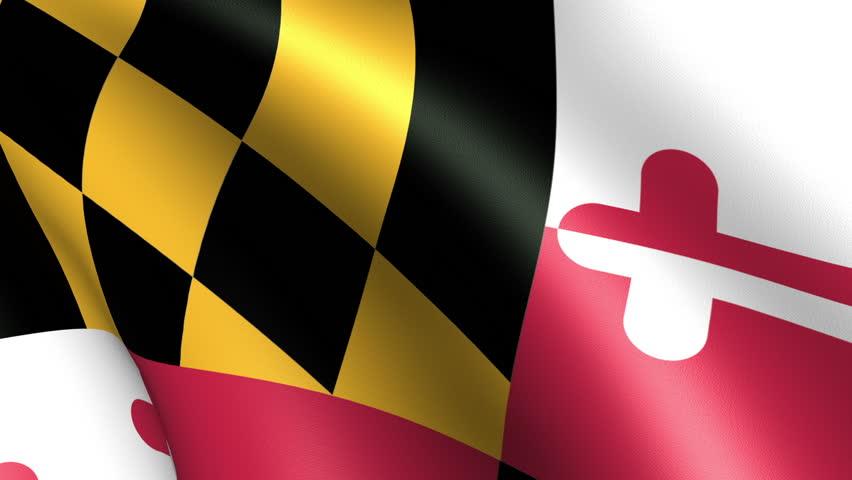 Maryland State Flag Waving