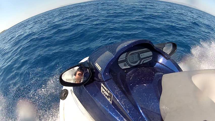 Jet ski front view pov
