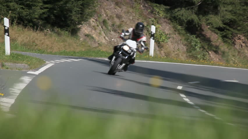 Motorcycle racing on the highway - HD stock video clip