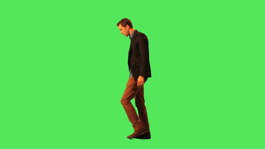Male walking to work - HD stock footage clip