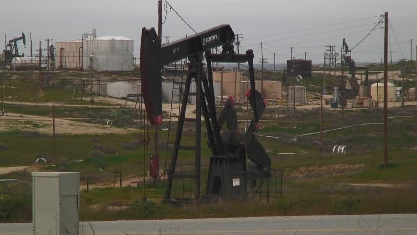 CALIFORNIA, USA - CIRCA 2011: Oil Pumping Field In Central California - HD stock video clip