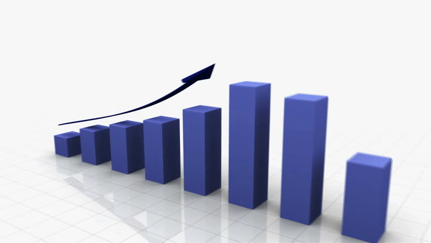 3D Growing Business Chart / bar graph in blue with Climbing Arrow. 8 Bars total Different variations of this file as well as many other business related animations available in my Contributor Gallery. - HD stock video clip