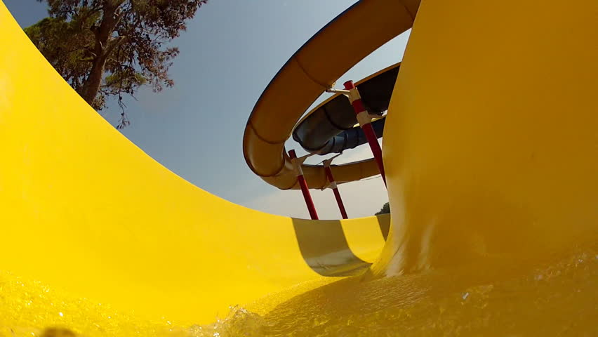 Ride on the waterslide