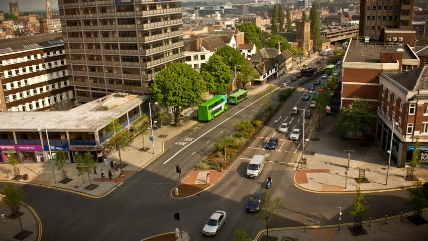 busy junction traffic timelapse