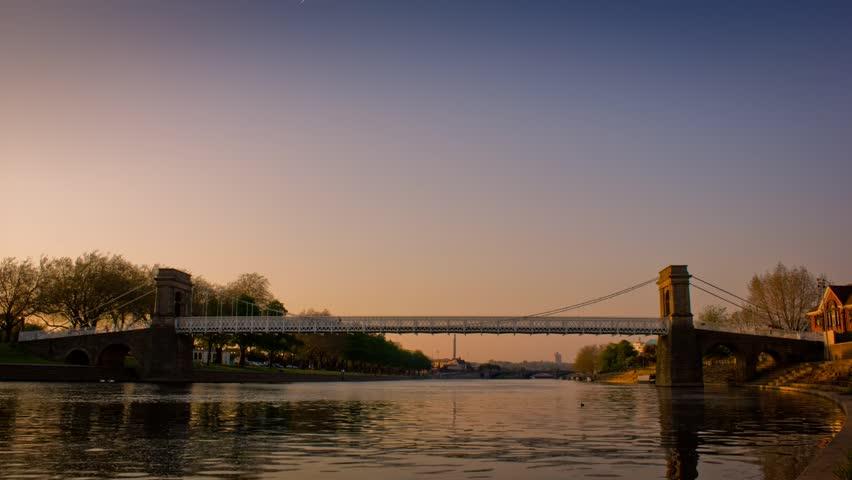 bridge over river timelapse