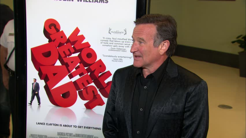 Los Angeles, CA - AUGUST 13, 2009: Robin Williams, walks the red carpet at the World's Greatest Dad Premiere held at the The Landmark