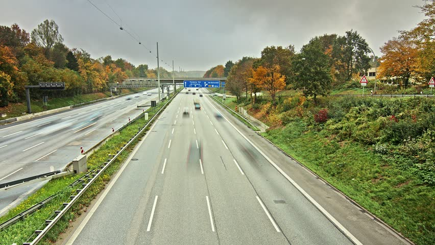 Autobahn/Highway Time Lapse With Tyre Failure Stock ...