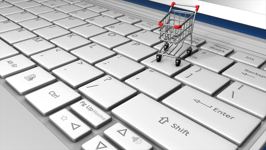 Online shopping concept animation.