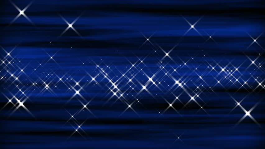 Cobalt Blue Abstract Wallpaper: Twinkling Stars On Soft Blue Background Stock Footage