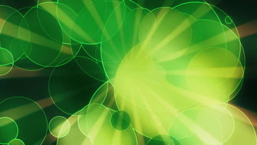 Star burst dots in green looping motion design  - HD stock video clip