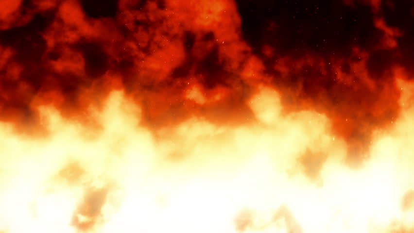 Firewall 1 - Fire Video Background Loop /// A massive wall of fire. Hot!