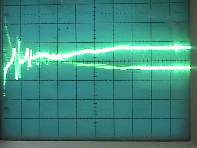an old oscilloscope close up of the screen displays a wave pattern - SD stock video clip