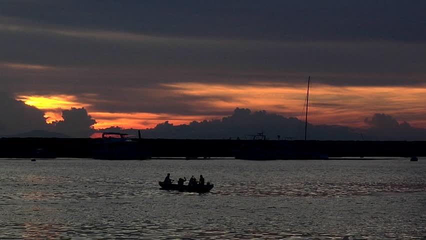 Dramatic Sunset over Manila Bay, Philippines