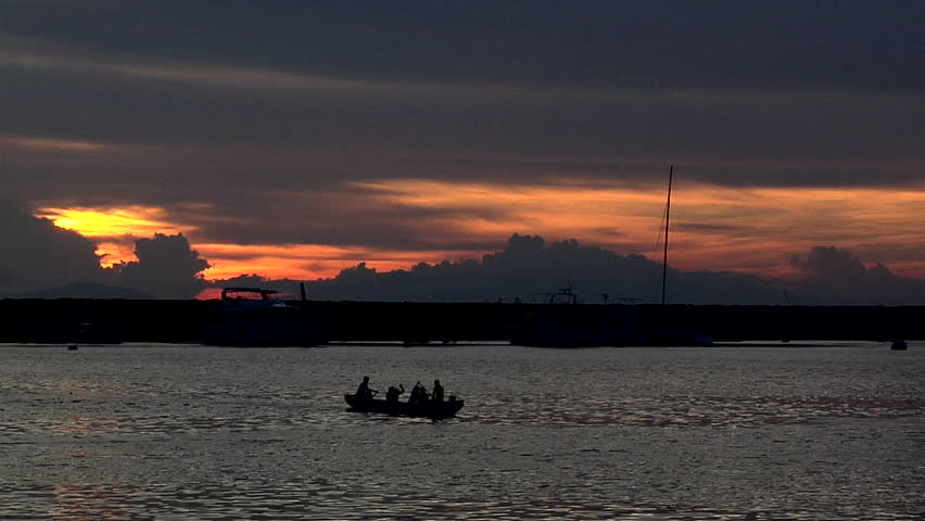 Dramatic Sunset over Manila Bay, Philippines