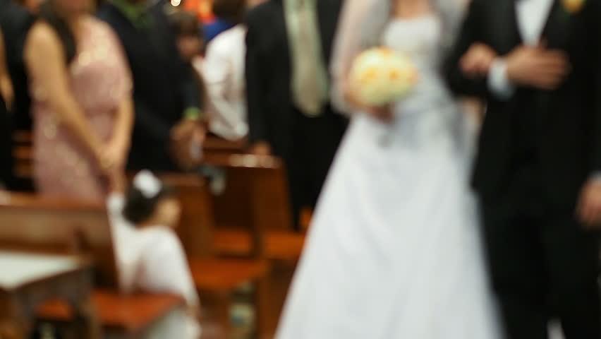 Wedding in a chapel - blurry