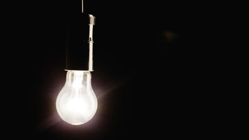 Real Light Bulb Flickering. Incandescence Thread Close Up. Macro ...:... Real light bulb turning on, flickering and turning off - HD stock  footage clip,Lighting