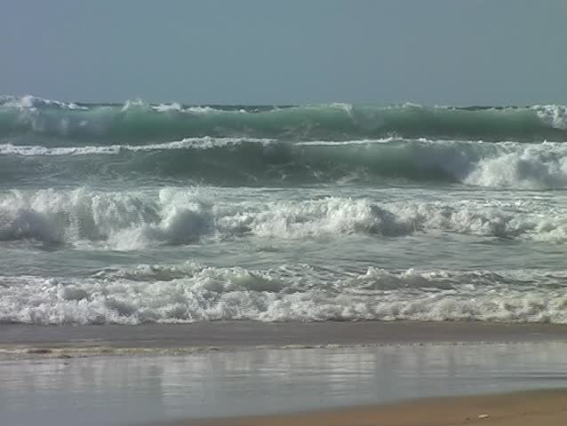 Ocean waves at the atlantic ocean in Portugal - SD stock footage clip