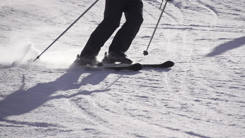 Slow motion skiing stock footage video  shutterstock