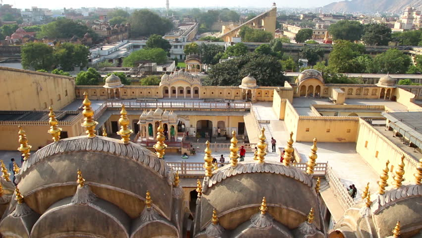 Hawa Mahal Hd Images: View On Jaipur From Hawa Mahal Palace