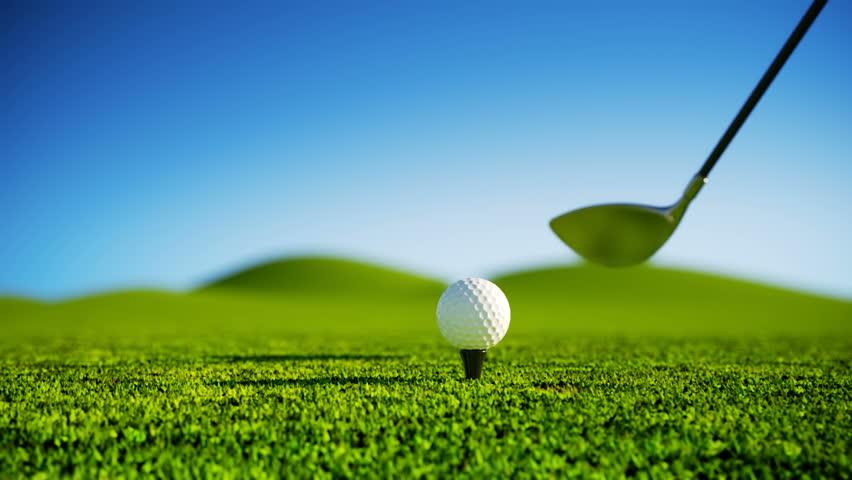 Slow Motion Golf strike.