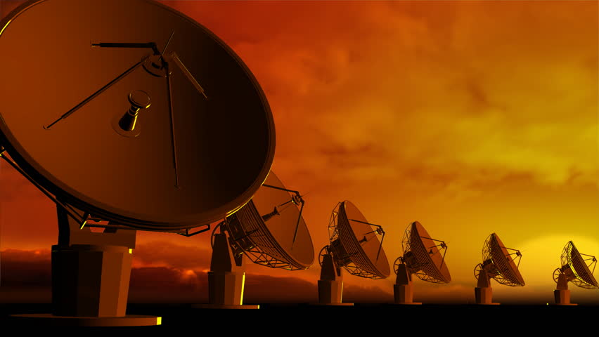 The radio-aerials on sky background - HD stock video clip