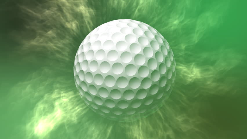 Rotating Golf Ball Motion Background - HD stock footage clip