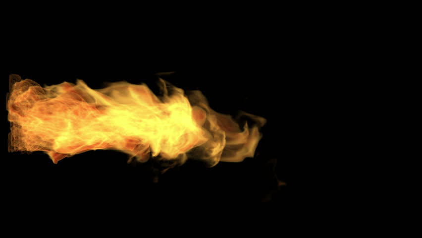 fire thrower, flame jet isolated on black, alpha channel, hd, 1920x1080