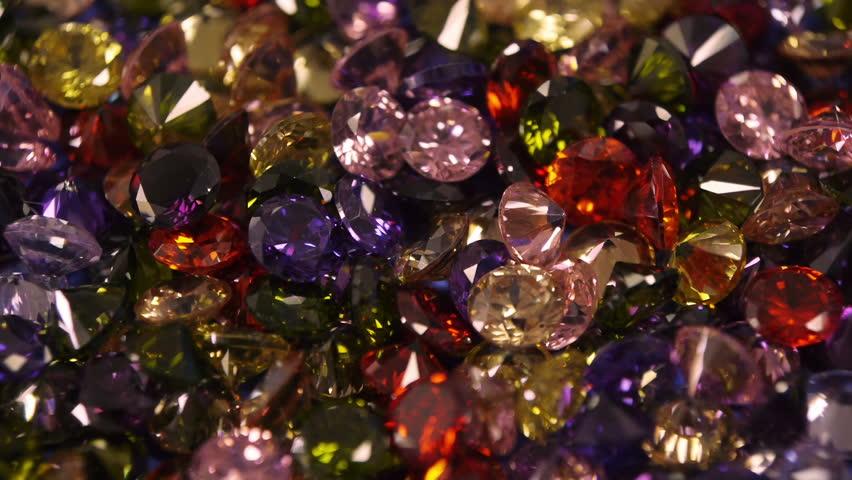 Colorful Fantasy Gem Stones Glittering Perfect Loop.