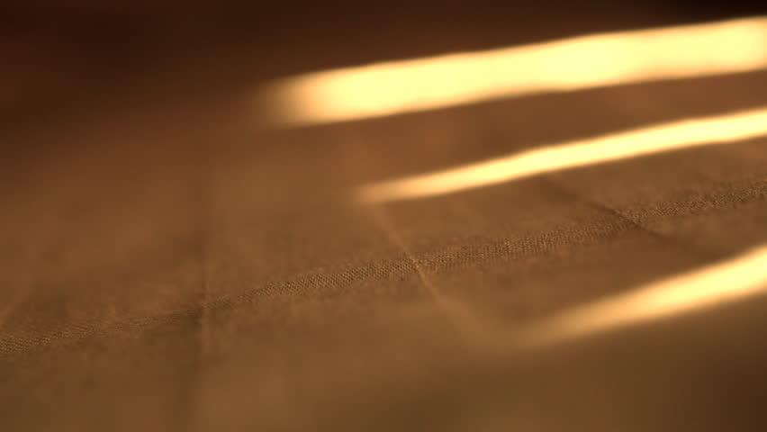 Close up of bed shadows swaying