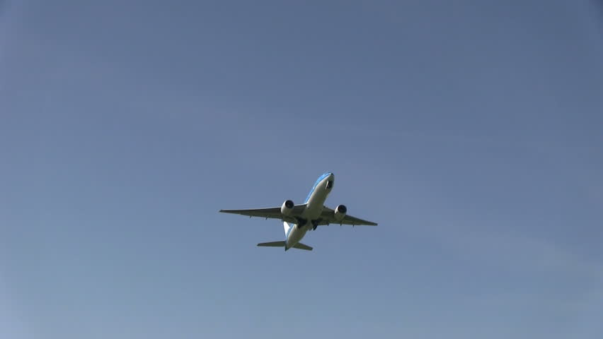 SCHIPHOL, AMSTERDAM, THE NETHERLANDS - MAY 25: KLM Plane taking off at Amsterdam Airport Schiphol on May 25, 2012.