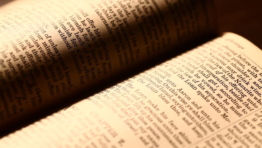 Close up of old Holy bible - HD stock video clip