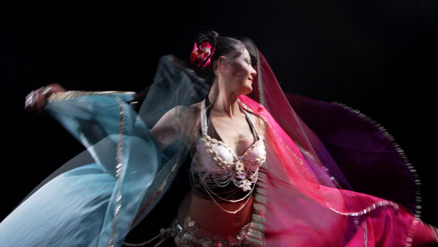 beautiful belly dancer shot with canon 5d mk2 - HD stock video clip