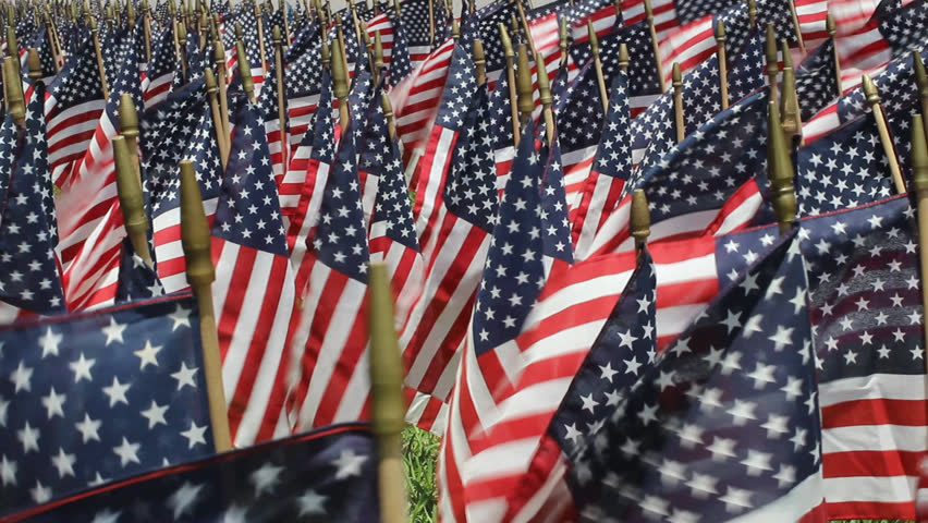 American flag decorations on memorial day stock footage for American flag decoration ideas
