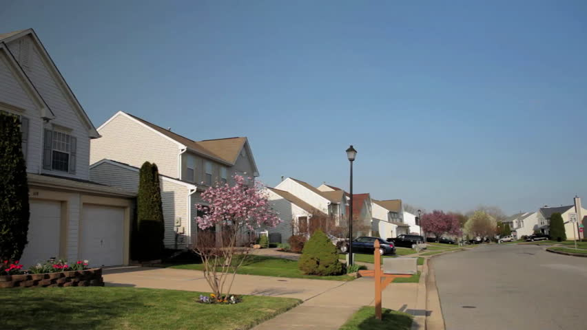 Suburban Neighborhood - HD stock footage clip