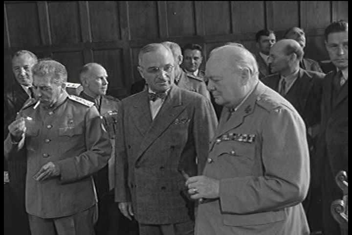 1940s - Winston Churchill in unknown negotiations.